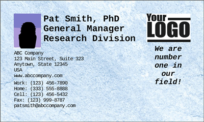 Business Card - Advanced - Landscape